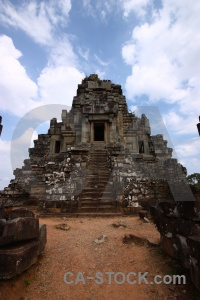 Step staircase temple cambodia cloud.
