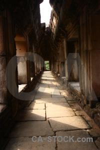 Stone archway temple angkor thom buddhist.