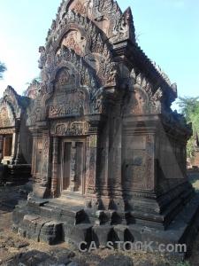 Stone asia ruin cambodia block.
