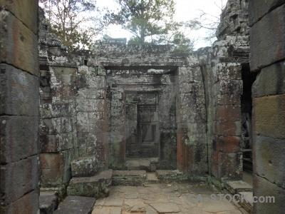 Stone block buddhist southeast asia angkor.