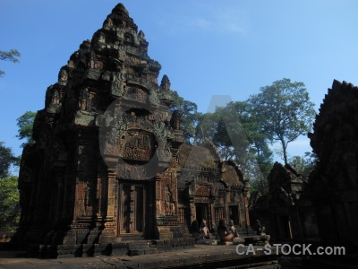 Stone buddhism buddhist cambodia tree.