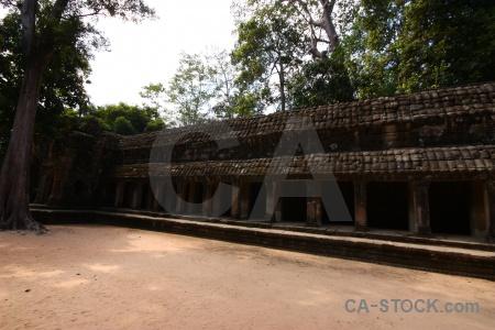 Stone cambodia tomb raider buddhism pillar.