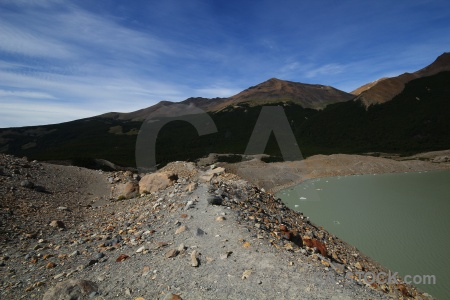 Stone moraine el chalten argentina south america.