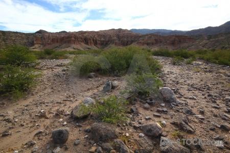 Stone mountain rock landscape argentina.