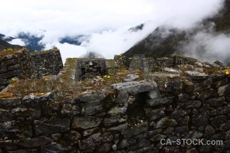 Stone peru cloud inca trail sky.