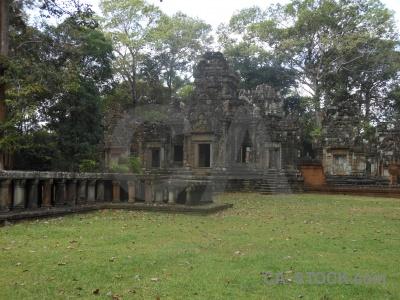 Stone ruin angkor temple siem reap.