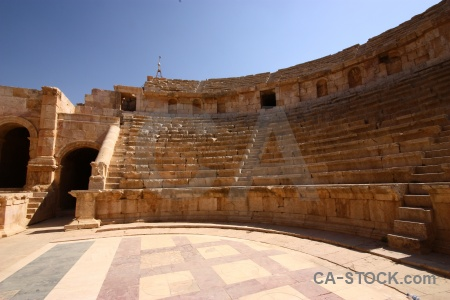 Stone ruin theatre jordan archway.