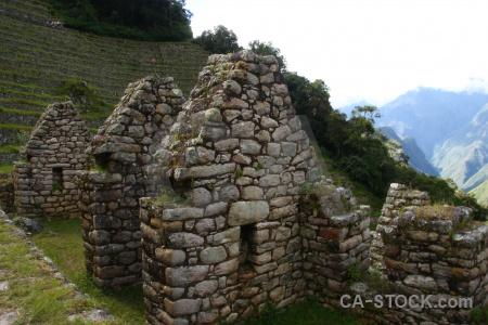 Stone ruin winay wayna inca peru.