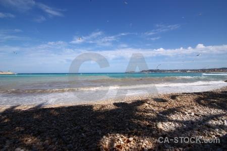Stone sky spain sea water.