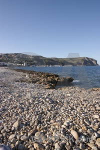 Stone spain javea water beach.
