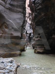 Stone water gorge mujib river.