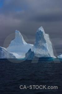 Storm antarctica argentine islands iceberg water.