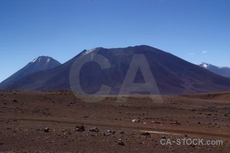 Stratovolcano altitude volcano atacama desert landscape.