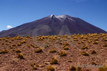 Stratovolcano atacama desert sky bush volcano.