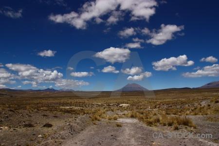 Stratovolcano sky volcano landscape peru.