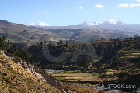 Stratovolcano volcano peru colca valley landscape.