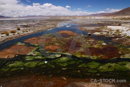 Stream cloud altitude landscape algae.