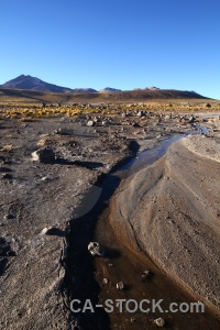 Stream el tatio mountain water andes.