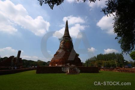 Stupa unesco grass southeast asia step.