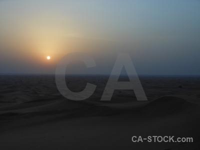 Sun asia middle east desert sunrise.