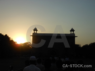 Sun building new delhi sunrise asia.