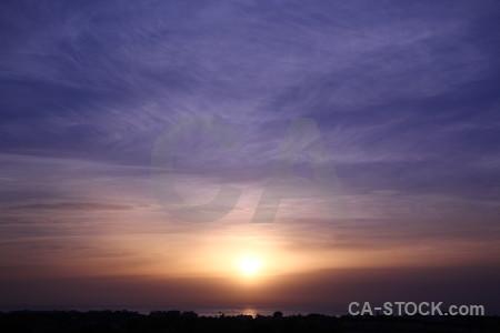 Sun cloud spain javea sunset.