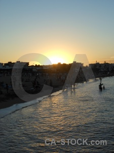 Sun europe sea beach silhouette.
