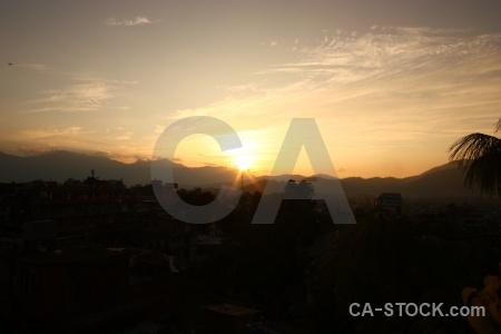 Sun kathmandu sunset mountain sky.