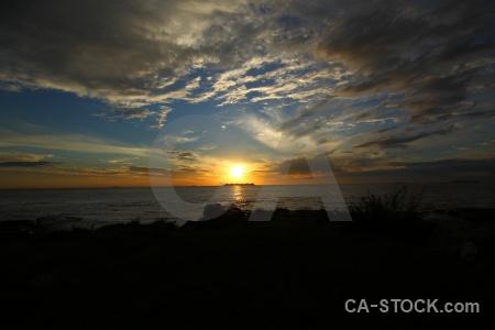 Sun rio del la plata sunrise water sunset.