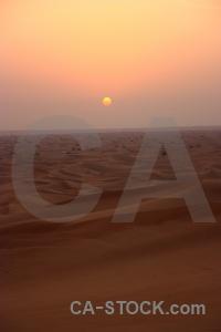 Sun sand western asia middle east sunset.