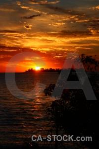 Sun sky sunrise sea rio del la plata.