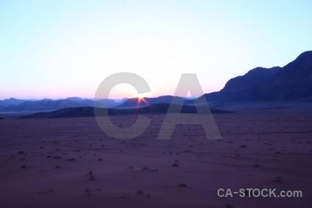 Sun sunrise mountain landscape jordan.