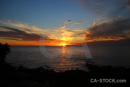 Sun sunset colonia del sacramento sky rio la plata.