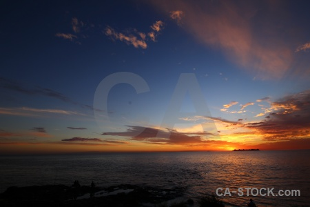 Sun sunset south america uruguay water.