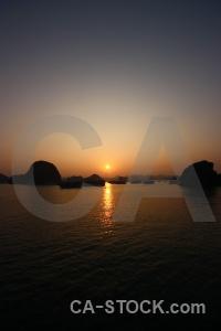 Sun sunset southeast asia water silhouette.