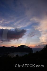 Sun thailand island asia water.