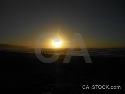 Sun water punakaiki beach sunrise.
