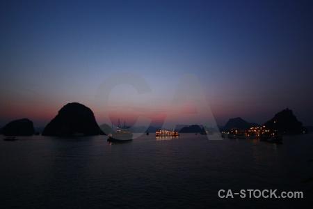 Sunrise asia boat silhouette southeast.