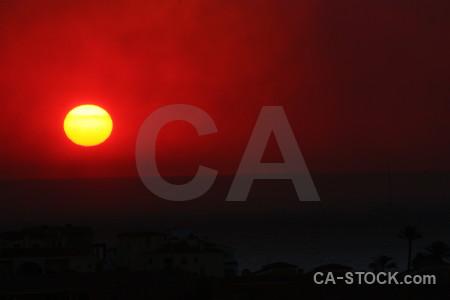 Sunrise europe smoke montgo fire sun.