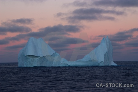 Sunrise iceberg water day 4 ice.