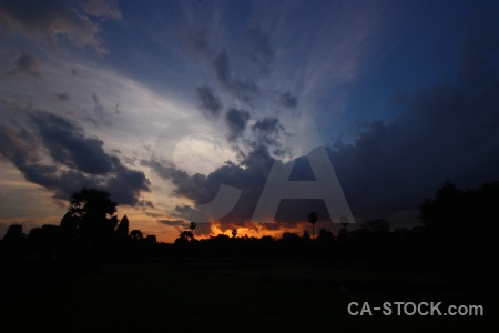 Sunrise khmer sky buddhism asia.