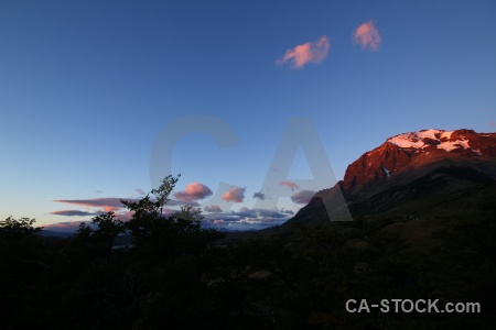 Sunrise landscape chile sky mountain.