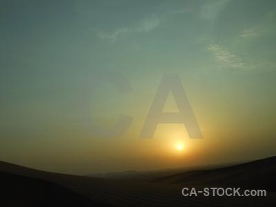 Sunrise middle east western asia dubai silhouette.