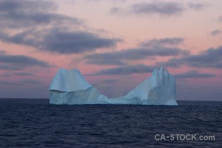 Sunrise sea water ice sunset.
