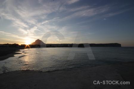 Sunrise sky montgo water sea.