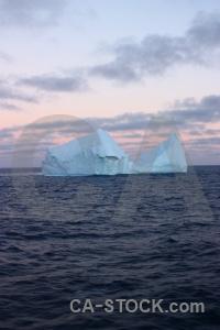 Sunrise sky sunset water antarctica cruise.