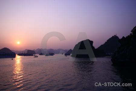 Sunrise sky vietnam mountain silhouette.