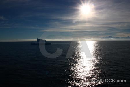 Sunrise sun antarctica bellingshausen sea iceberg.