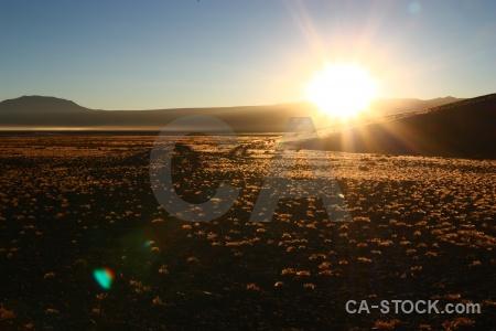 Sunrise sun sunset mountain bolivia.