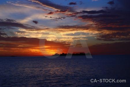 Sunrise sun sunset uruguay south america.